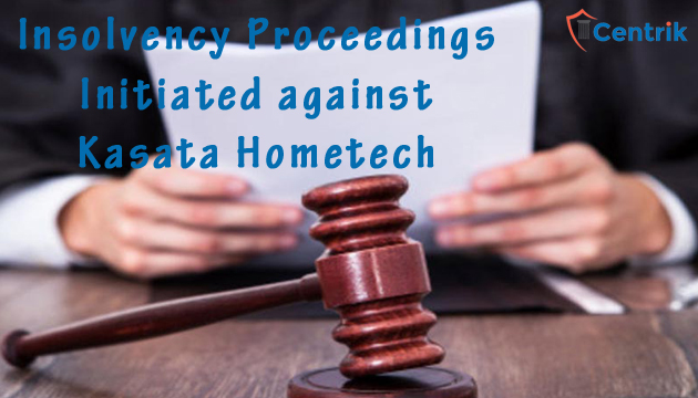 Insolvency proceedings initiated against Kasata hometech